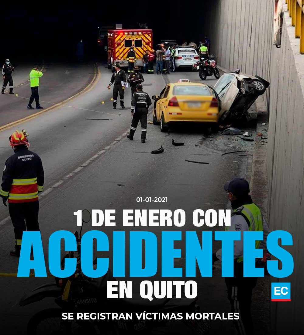 #ATENCIÓN | Este 1 de enero del 2021 se registran accidentes en Quito » https://t.co/sDWWWcx1am https://t.co/FkTZ2gveKf