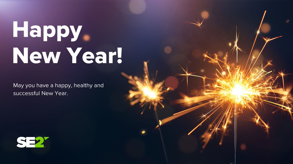 Happy New Year! We are excited for the new year, wishing you and yours joy and prosperity this year from everyone at SE2! #2021 #NewYear https://t.co/GKW7k15E1H