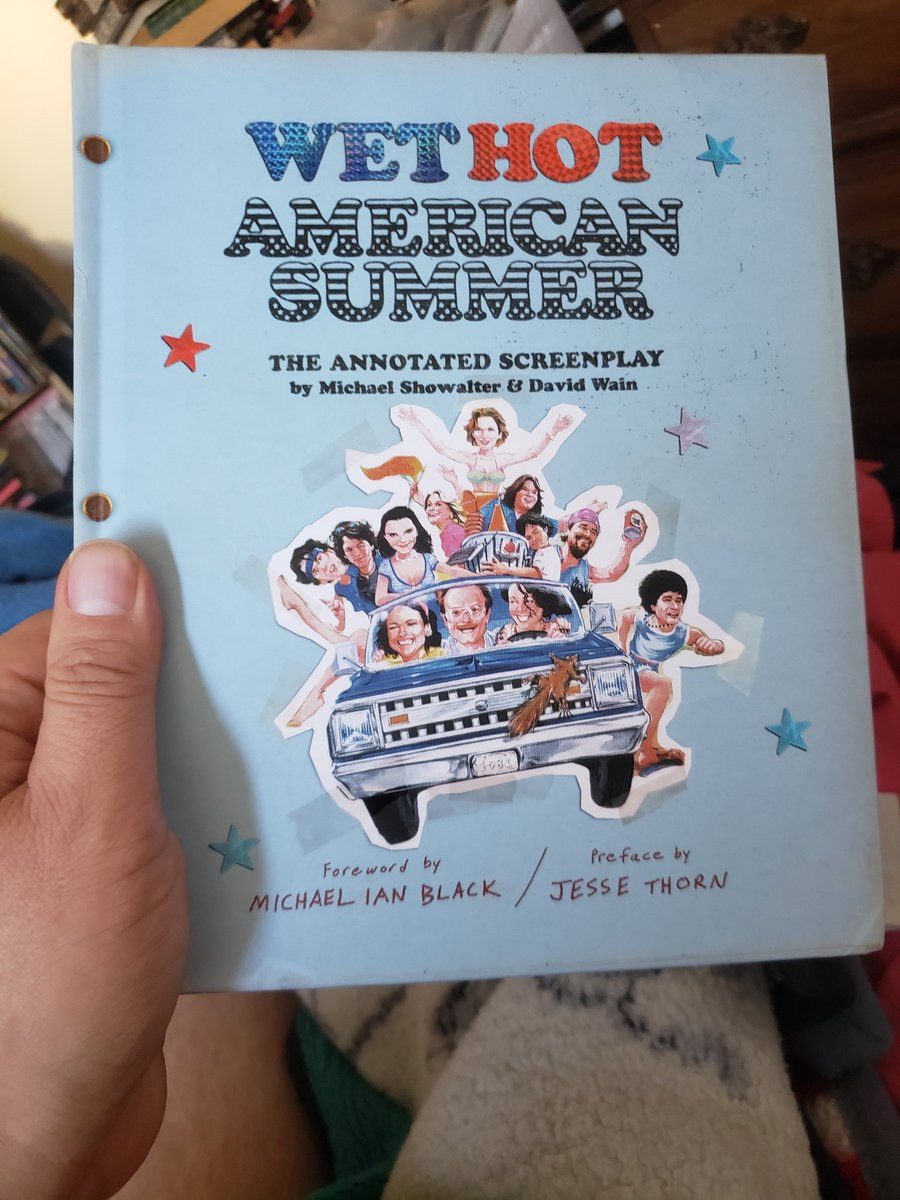 Not feeling well today (I think it's just a cold, but we'll see) so it's catching up on reading. #WetHotAmericanSummer is one of those movies that is comedy currency for me; I may be friends with you, but never besties, unless you love it too.