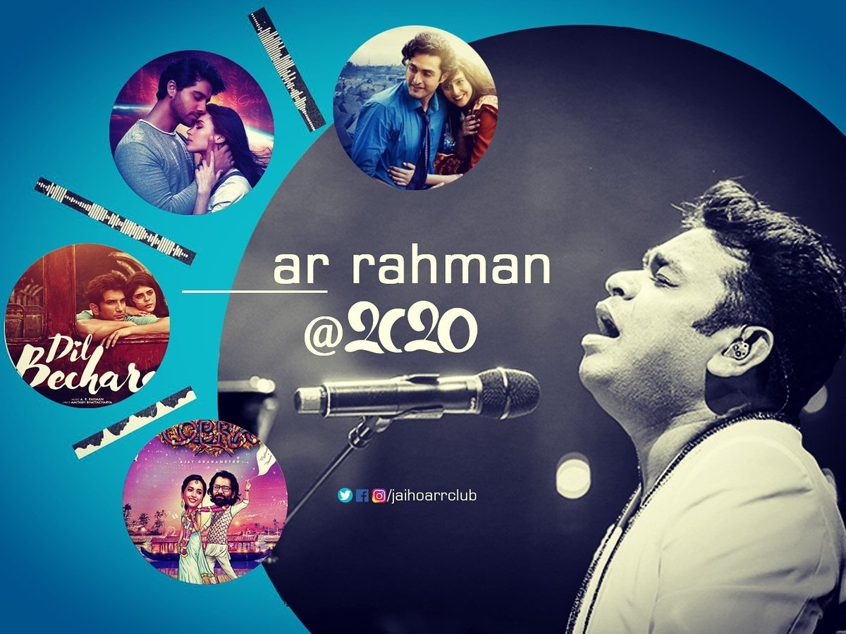 Wish you all a Happy and Safe New Year 2021.✨🎶  Comment your favorite @arrahman movie track of the Year 2020.  🎤 #Shikhara 🎤 #99Songs 🎤 #DilBechara 🎤 #Cobra (Single)