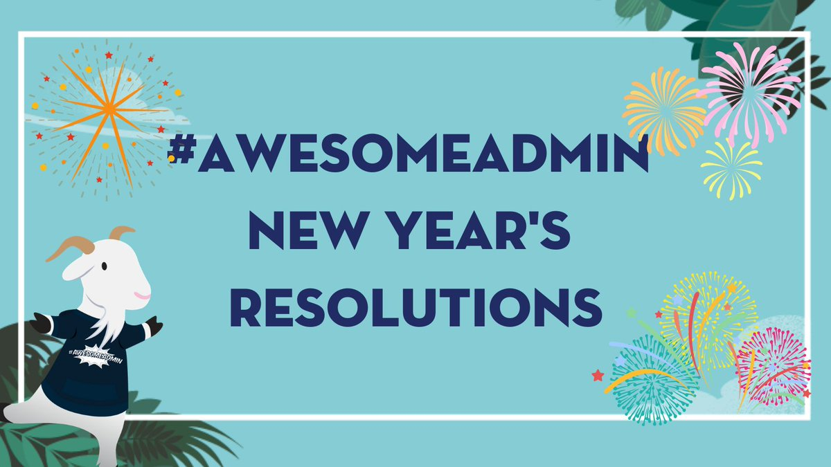 Happy #AwesomeAdmin Friday! 💙 End the week on a high 🎵 with us by declaring your admin new year's resolution and tagging a friend or two that can hold you accountable! 💪