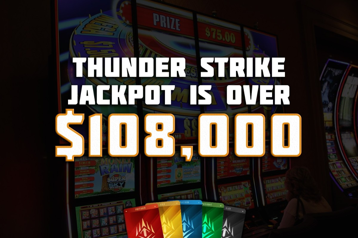 Start the new year with a big win! Thunder Strike can hit at any time on any slot. ⚡💰