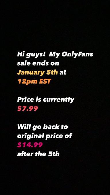 Sale ends soon 😁 ¡La oferta de Onlyfans termina pronto! es actualmente $ 7.99 Volviendo al precio original