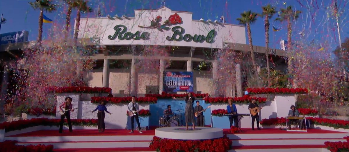 What a final performance by GRAMMY Nominee @mickeyguyton in front of the @RoseBowl to kick off the New Year! #RoseParadeReimagined
