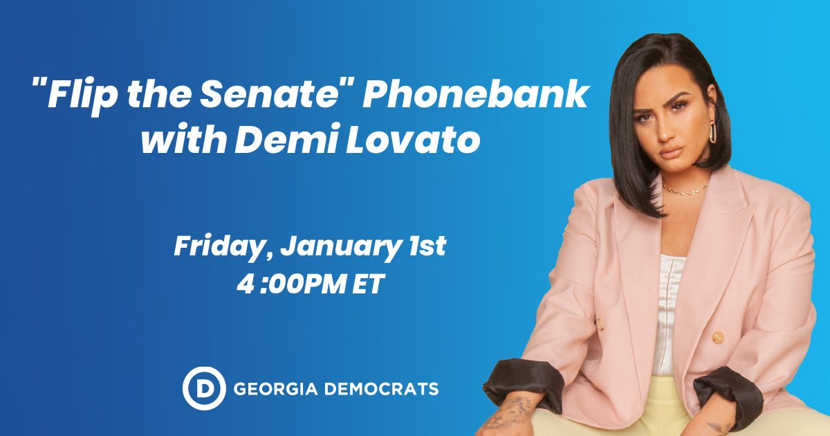 This election is too important to sit out. The fate of the Senate & our country is at stake. Join me today at 1pm PT / 4pm ET for a phonebank kick-off to get out the vote in Georgia & elect @ossoff & @ReverendWarnock! 💖  https://t.co/mXwkuIeYlb https://t.co/579scdlTYc