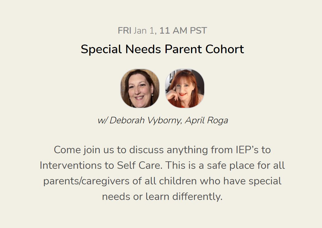 If you're a #specialneeds parent who is already using the @joinClubhouse app, please join me & Deborah Vyborny  for conversation & connection today at 2:00 PM ET.