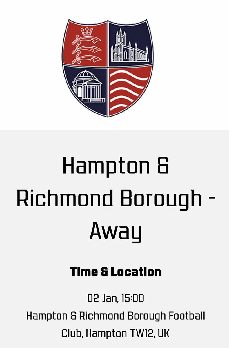 LEAGUE ACTION RETURNS THIS SATURDAY ⚽️  Wanderers are away at Hampton & Richmond Borough tomorrow in National League South action - 3pm kick off 🔴⚪️  Listen to ALL THE ACTION LIVE with Gary Pascoe on the DWTV YouTube channel from 2:45pm - link below ⤵️