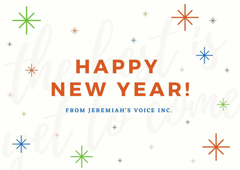 Happy New Year from Jeremiah's Voice Inc.  #Jeremiahsvoice #Livingbeyonddisabilty #HopeforHoliday2020 #Hopeful #Holidays #Holidaygiving #weneedyoursupport #autismawarness #specialneeds #helpothers #specialneedsawarness