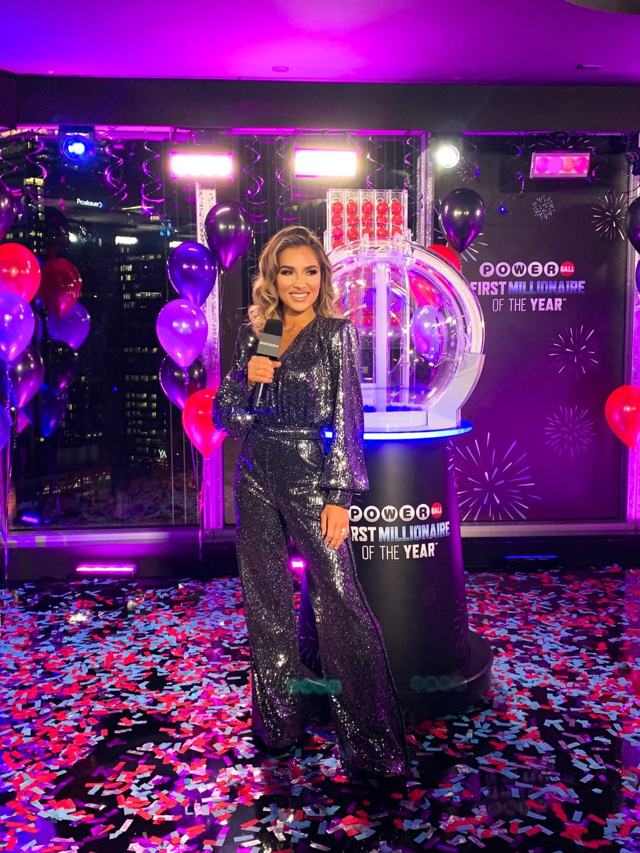 This is already the highlight of my year. It was such a pleasure to announce the Powerball First Millionaire of the Year again during @NYRE! #PowerballRockinEve