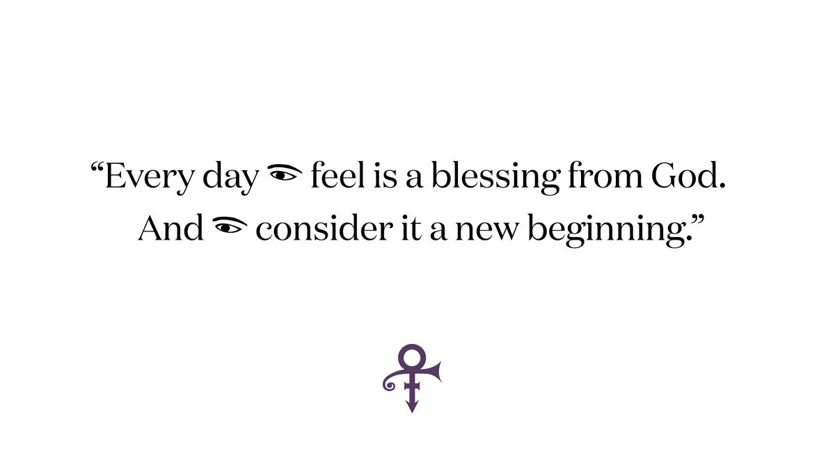 """The hardships of 2020 are not all behind us, but the dawn of the New Year offers an opportunity for reflection, and a renewed sense of hope. """"Every day I feel is a blessing from God. And I consider it a new beginning,"""" Prince once said."""