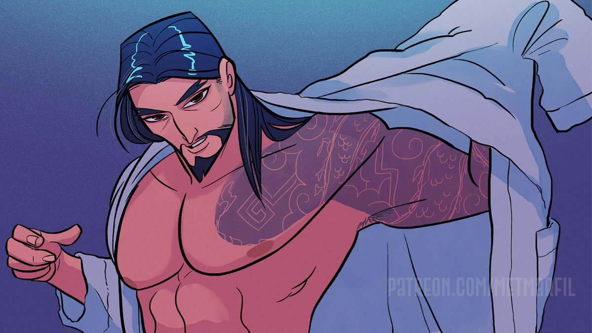 Finally I can post my favorite panel from the comic 🙌🏼 #Hanzo