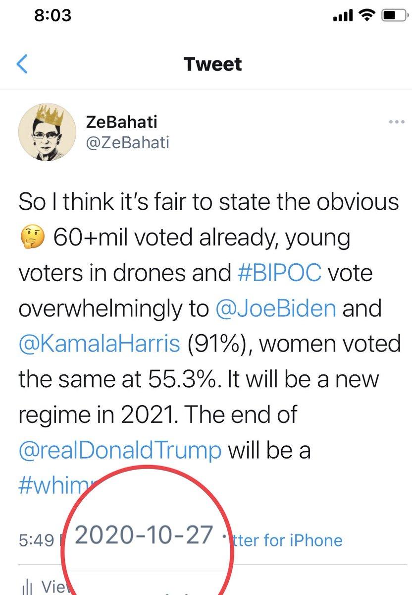 @realDonaldTrump, I WAS RIGHT😃#Elections2020 #BidenHarris2020