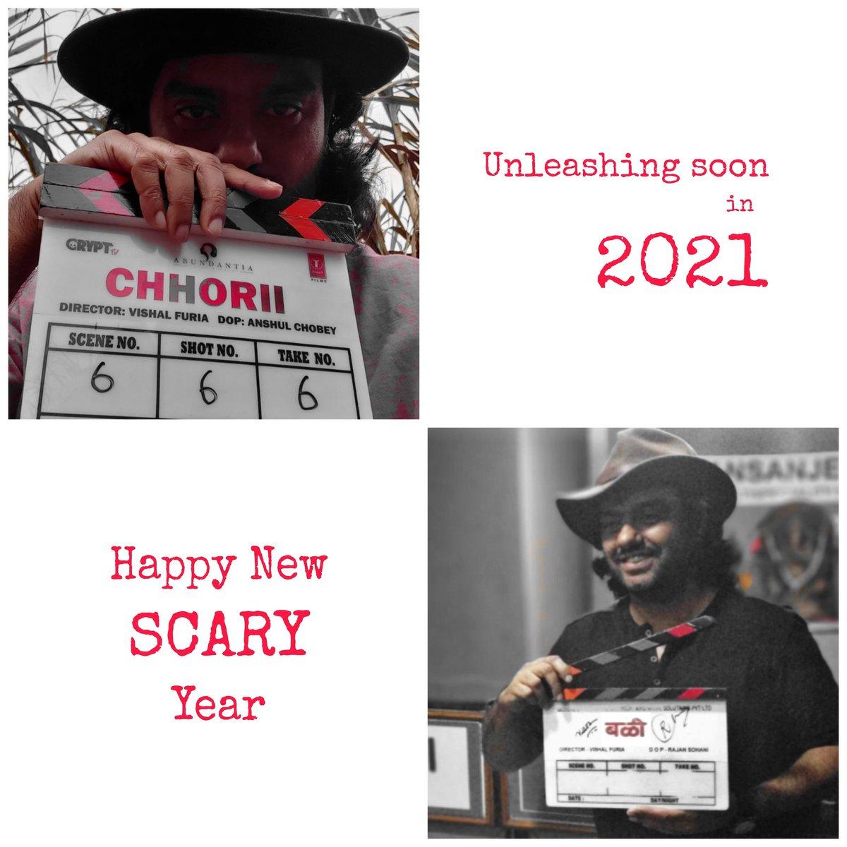 """Bali बळी-the victim"" starring @swwapniljoshi Produced by @Kartikgseams @arjunsbaran @Gseamsak  ""Chhorii"" starring @Nushrratt Produced by @vikramix @NotJackDavis #BhushanKumar @Abundantia_Ent @CryptTV @tseriesfilms  Releasing in 2021...💀💀💀  #horror #film #cinema #vishalfuria"