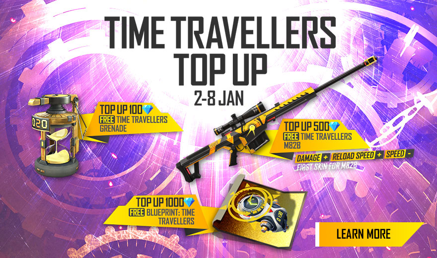 Free Fire India Official On Twitter Other Than The Time Traveller Set That You Can Get From The Current Incubator Make Sure You Equip Yourselves With A Few More Other Gadgets To