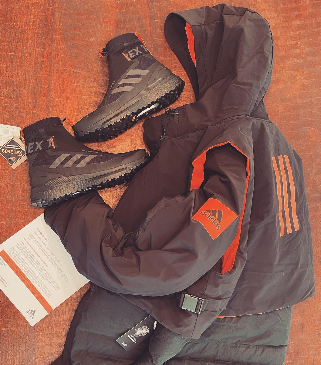 This care package was nuts! Unboxed here  Thanks @adidasterrex 🙌🙌 #giftedbyadidas #adidasrdy #terrexfreehiker #adidasparka