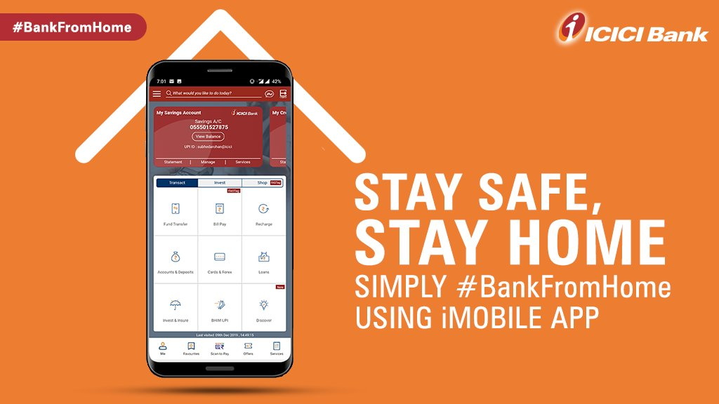 Now #BankFromHome with ease using the #ICICIBank #iMobile Pay app that enables you to perform several banking functions with just a click of a button. Watch this video to know more.