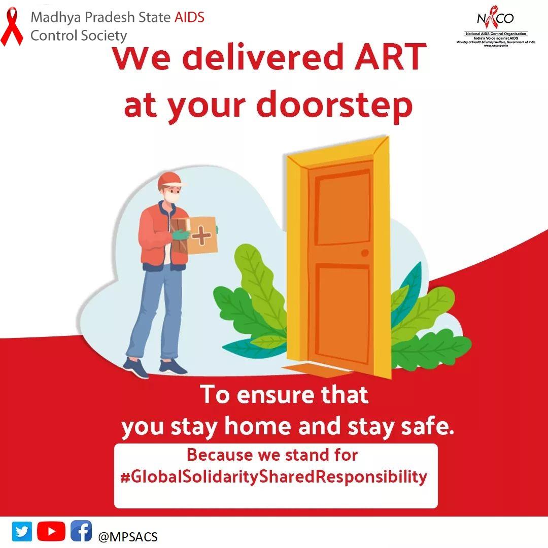 महामारी के दौरान ART सेवाओं कि घर पहुंच व्यवस्था के बारे में पता करें। NACO हेल्पलाइन 1097 पर कॉल करें  #worldaidsday #hiv #aids #hivawareness #aareness #aidsawareness #reducingstigma #GlobalSolidaritySaredResponsibility #KkkiYeMeriZimmedariHai