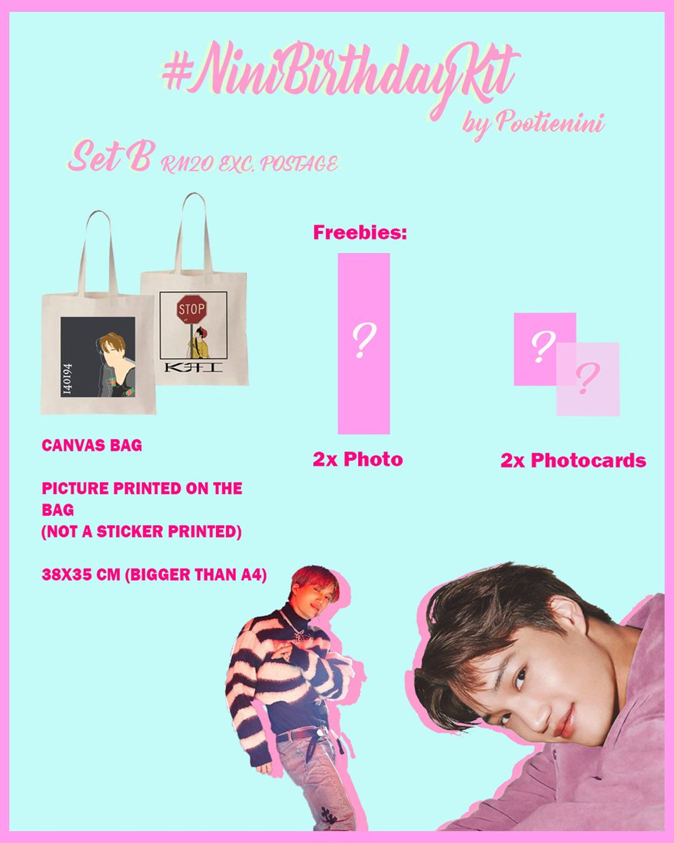 I present you guys my very first #NinibirthdayKit fankit!  📌Choose the set.  📌Check the thread for more designs/samples 📌Ios and Android 📌Fill in the form and wait for my dm! 📌Close on 10th January for the first batch! 📌Do dm me for any questions