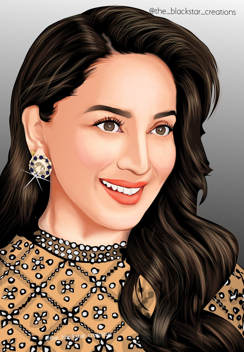 Art for @MadhuriDixit ma'am ❤️✨🤍