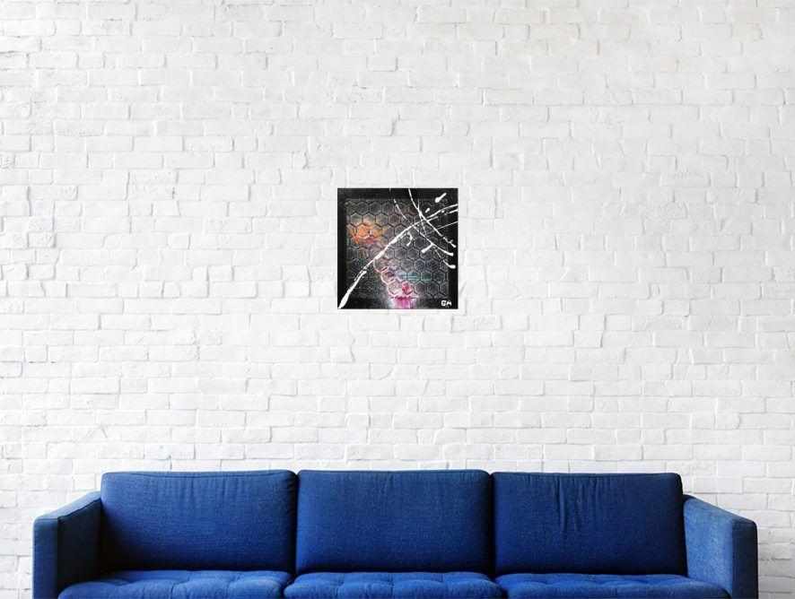 """Bonjour, voici ma dernière création, n'hésitez pas à commenter, liker et partager :) #158 """"Sleeping Satellite"""" Acrylique sur carton toilé, 20 x 20 cm https://t.co/B3ovVQkwVy #abstrait, #acrylique, #abstract, #acrylic, #painting, #art, #fineart, #abstractpainting, #modernart"""