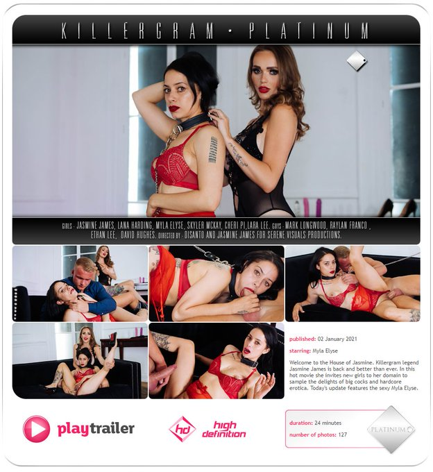 Check out @killergram  for today's update with Myself and the HOT  @Myla_Elyse  with my big cock stud