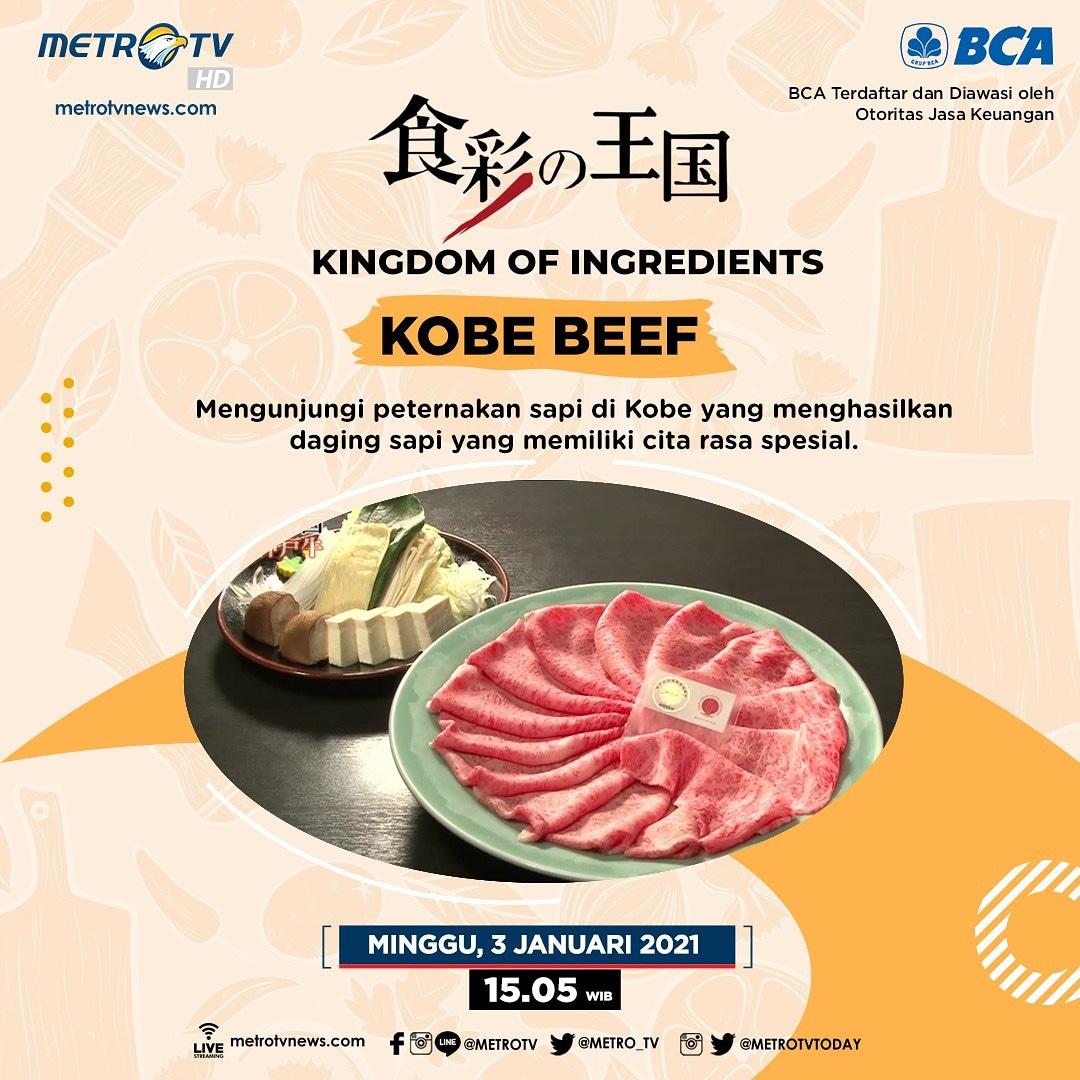 """Daging sapi Kobe memiliki cita rasa yang spesial. Untuk mendapatkan kualitas daging kobe terbaik, perlu proses pemeliharaan sapi yang baik pula. Seperti apa prosesnya? Yuk, intip peternakan sapi di Kobe dalam #KingdomofIngredients """"Kobe Beef"""" Minggu (3/1) pkl 15.05 WIB #MTVNAD"""
