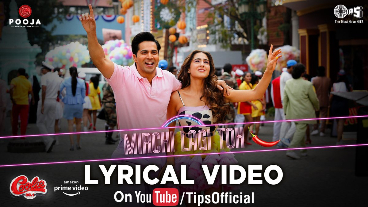 Start your first weekend and sing along with this lyrical version of #MirchiLagiToh from #CoolieNo1 starring @Varun_dvn & Sara Ali Khan!   WATCH NOW:   Singers: @thealkayagnik & #KumarSanu Recreated by: @DJLIJO - @Dj_Chetas Original Music: #AnandMilind