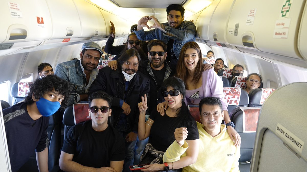 Get Set & Go Super pumped as we are off to Jaisalmer for #SajidNadiadwala's #BachchanPandey with the entire cast & crew This one's going to b a Fun crazy ride @NGEMovies @farhad_samji  @kritisanon @ArshadWarsi @prateikbabbar  #Saharsh #Abhimanyu @Skhannadiadwala @SufyanNadiadwa4