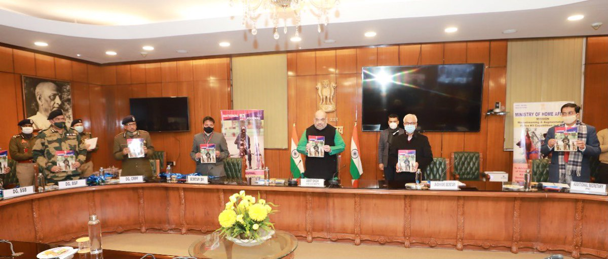 Released the inaugural issue of 'National Police K-9 Journal'. This is a unique initiative which will further enrich the subjects related to Police Service Canines (K-9) teams in the country.  The police dog squad can act as a force multiplier to ensure the safety of our society.