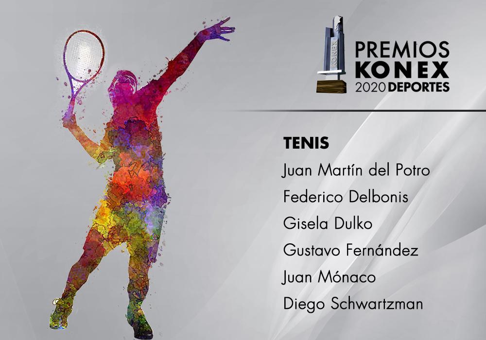 Los ganadores del #PremioKonex 2020 como mejores Tenistas de la última década en la #Argentina son:  🔹@delpotrojuan 🔹@FedeDelbonis 🔹@gidulko 🔹@gustifernandez4 🔹@picomonaco 🔹@dieschwartzman  Acá el listado completo de premiados👇