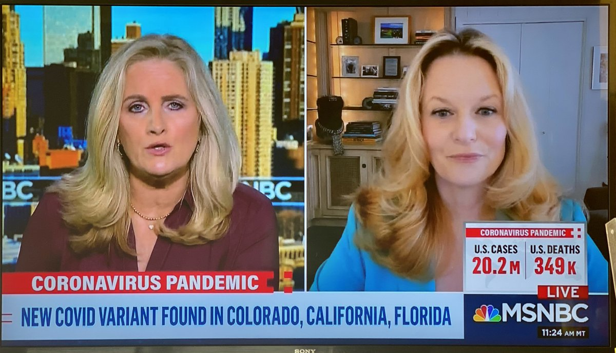Thanks @AlexWitt for hosting me on @MSNBC this morning to talk about the implications of the LA #COVID19 surge for our beleaguered hospitals and the importance of the more contagious #SARSCoV2 variant for further spread here in LA and nationally.