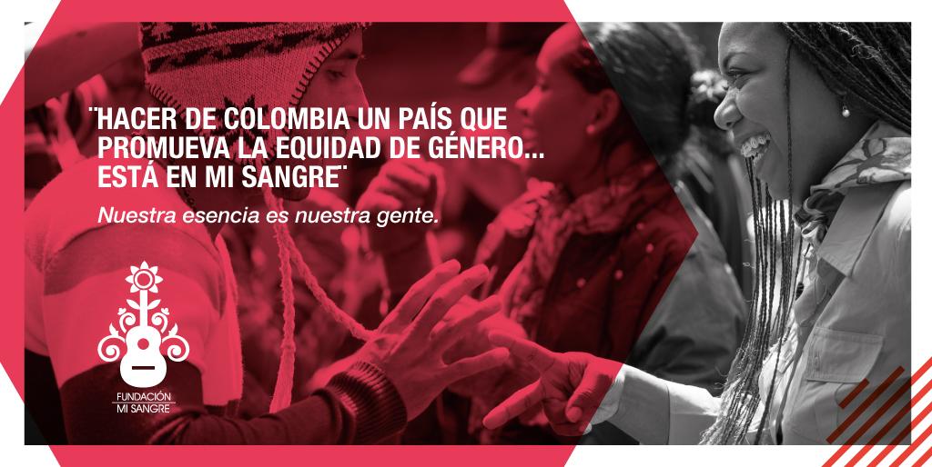 """""""Hacer de Colombia un país que promueva la equidad de género...está en mi sangre"""" Ayúdanos a lograrlo, entrando en:"""