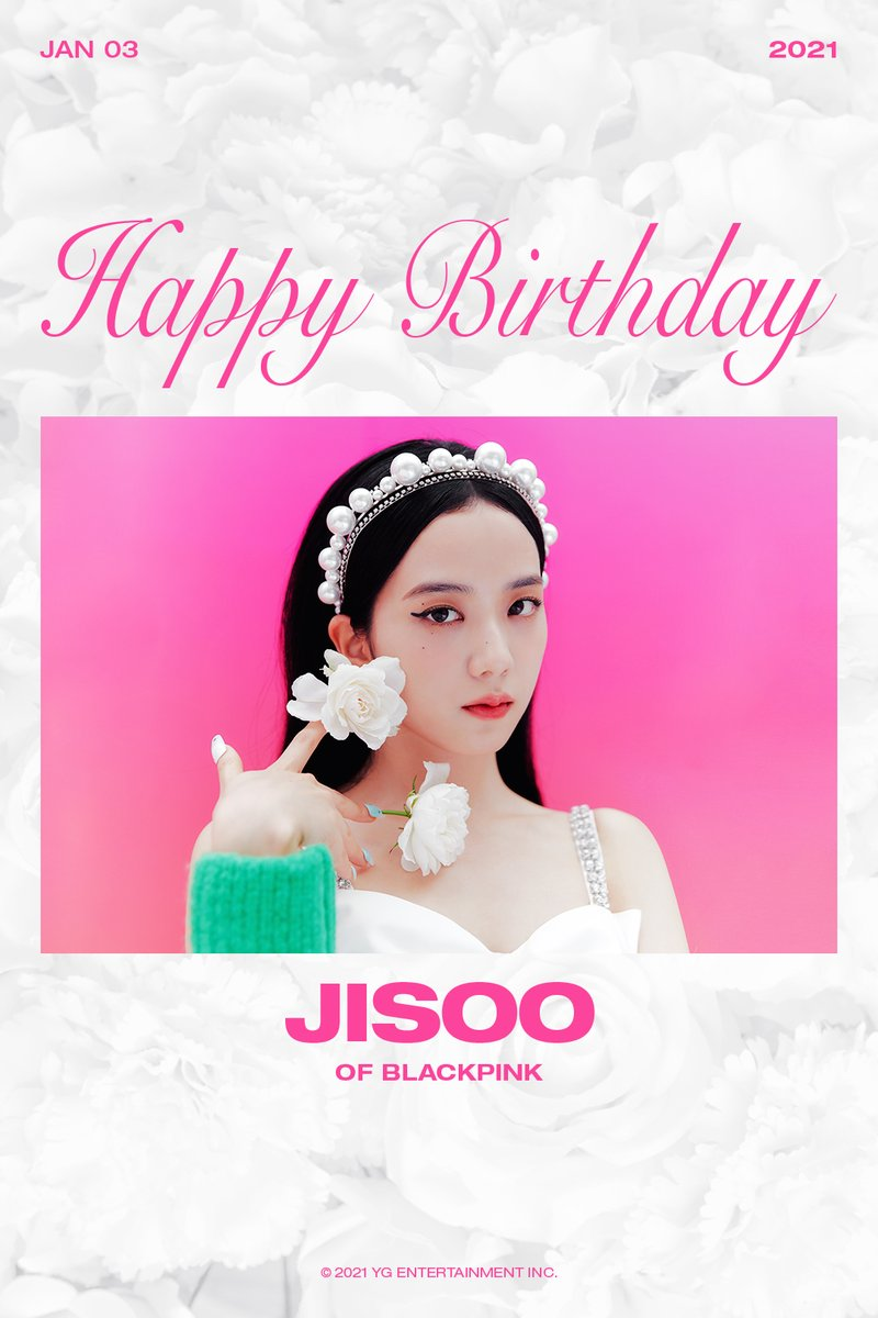 Replying to @ygent_official: HAPPY BIRTHDAY JISOO 🎉 ✅ 2021.01.03  #BLACKPINK #블랙핑크 #JISOO #지수 #HAPPYBIRTHDAY #20210103 #YG