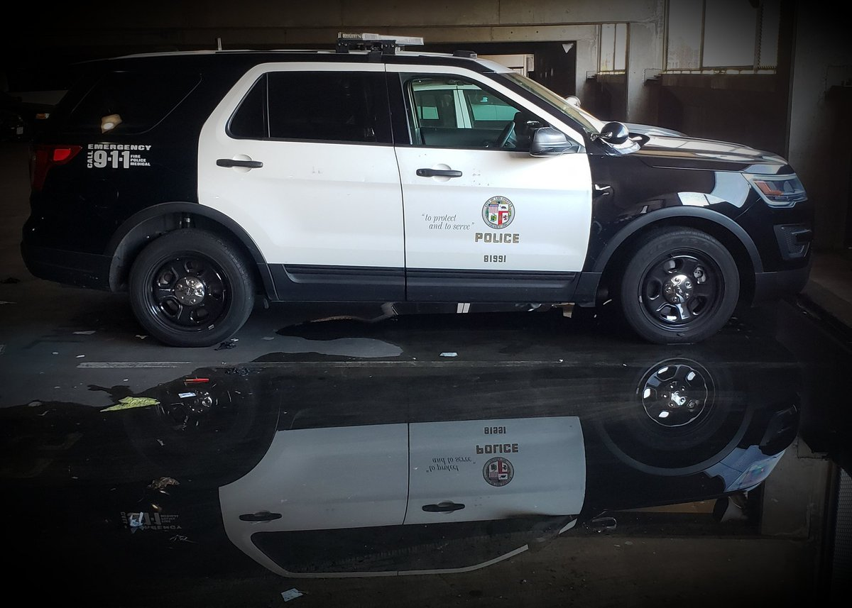Good morning from #LAPD Central Station #toprotectandtoserve #police #reflection
