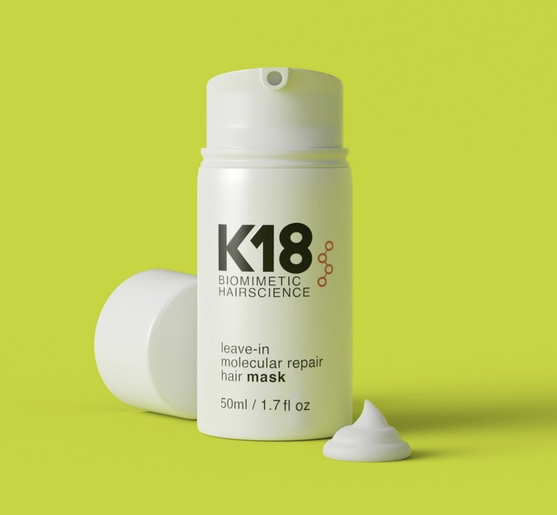 """Is this all your real hair?"" — one of the best things @LucasHex570 has ever said to me 🥺   Swearing by @k18hair leave-in molecular repair hair mask since quar  (I have the og packaging so here's the new one)"