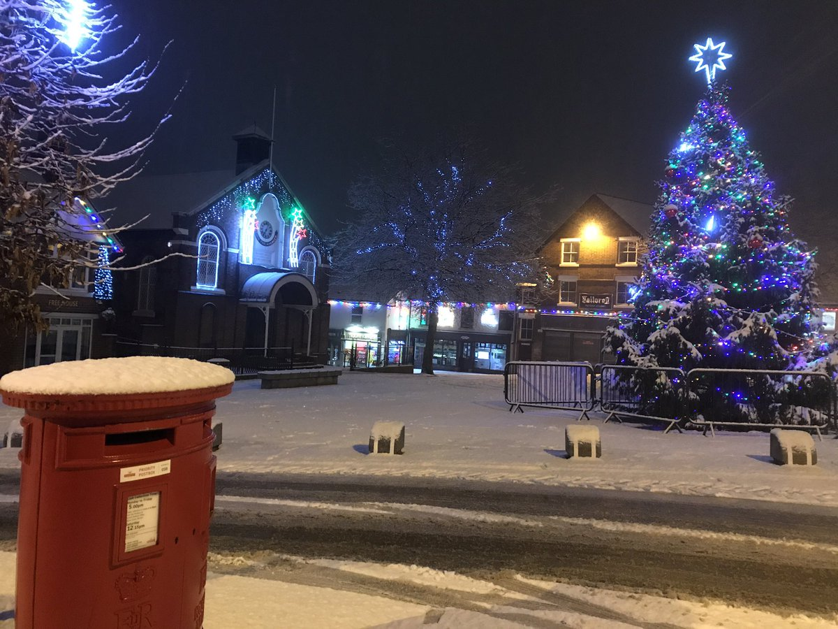 Swad town centre looks decent in the snow too!