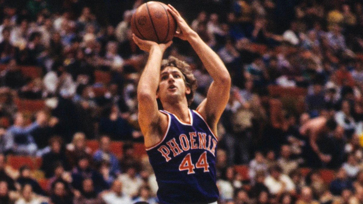 🙏 RIP, Paul Westphal  📊 823 GP, 15.6 PPG, 1.9 RPG, 4.4 APG 🎯 50.4 FG%, 82.0 FT% ⭐️ 5x (1977-1981) 💍 1x (1974)  Westphal averaged 20+ PPG with a 50+ FG% for four straight seasons. The only guard in NBA history with a longer such streak is Michael Jordan (5). https://t.co/673pTNL9Jd