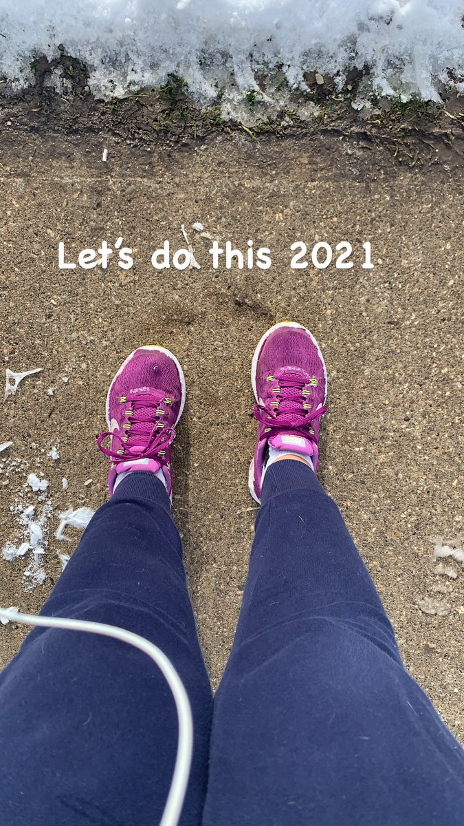 Decided it was a smart idea to wear my runners today on my walk.  It didn't end well lol. I slid on the snow covered ice and popped my hip, strained my right knee and twisted my right ankle. 2021 is off to a great start 🤦🏻♀️😏