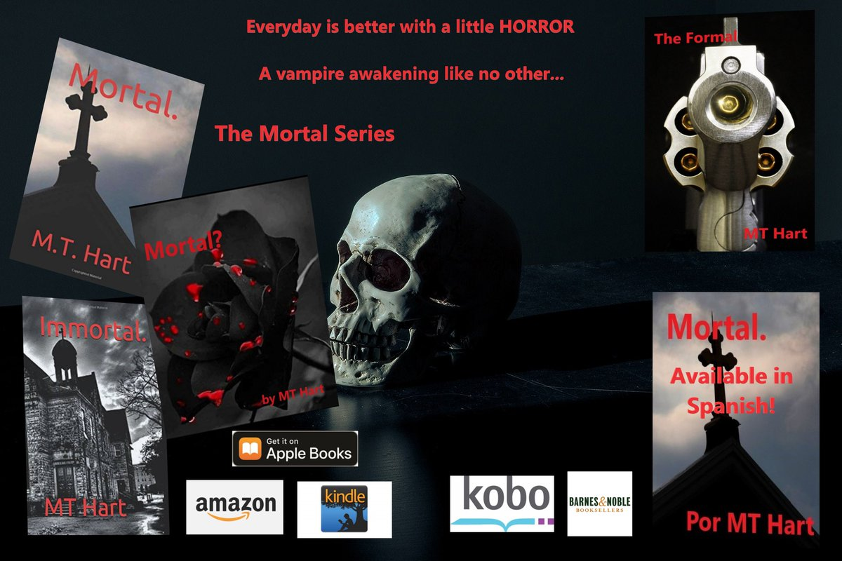 """@AlexAndreasHous From """"Mortal.""""(also avail in Spanish) to """"Mortal?"""" to """"Immortal."""" """"Mortal.""""   """"Mortal?""""   """"Immortal""""  And now my fourth novel: """"The Formal"""""""