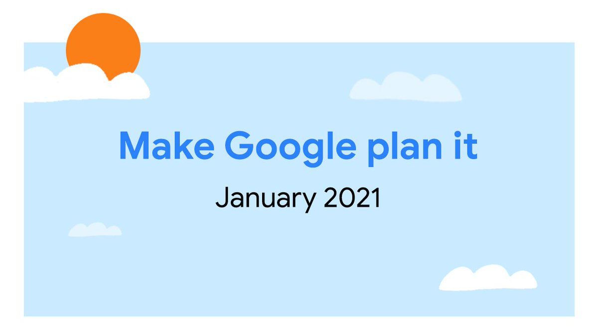 New year, new m̶e̶ ways to #MakeGooglePlanIt 🤭  Tell us what your plans for Jan are looking like 👇