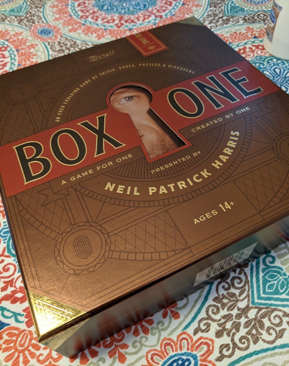 Finished playing Box One from @ActuallyNPH & @theory11, this was a delight of an at-home game experience. If you like puzzles, escape rooms, ARGs, etc - this is for you.   #boxone #theory11