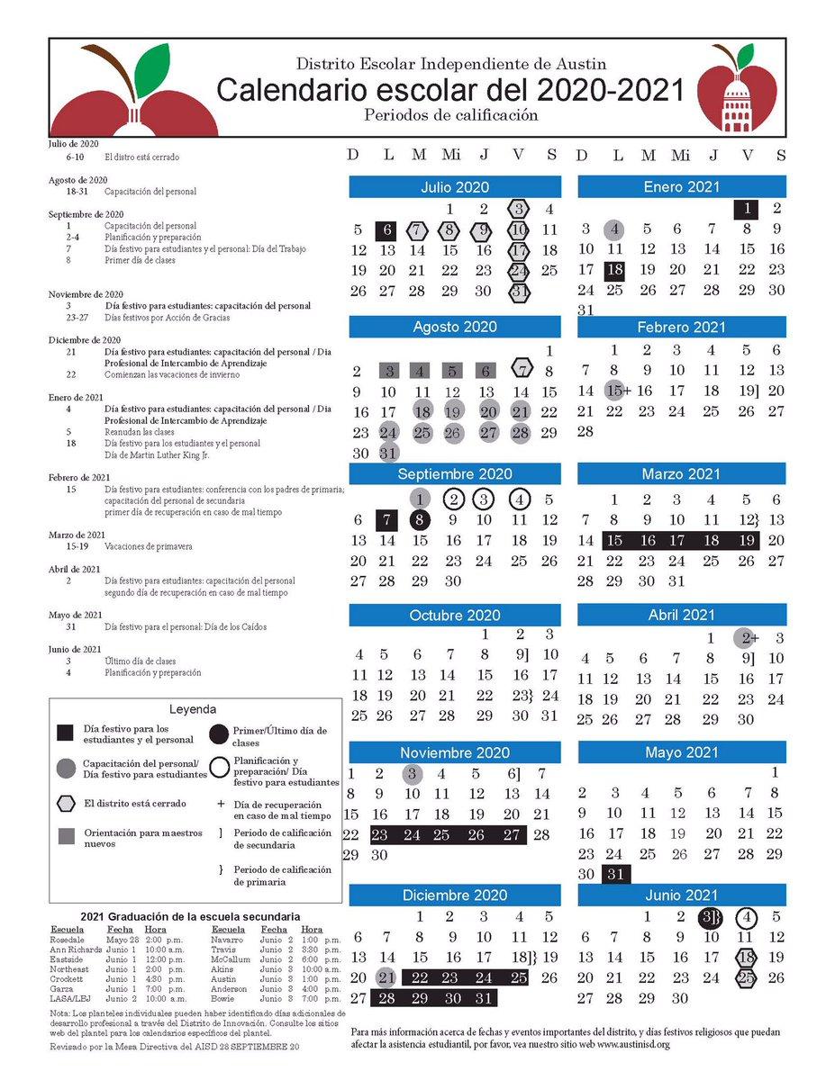 Aisd 2022 Calendar.Dr Gilma Sanchez Bemustangpride Twitter