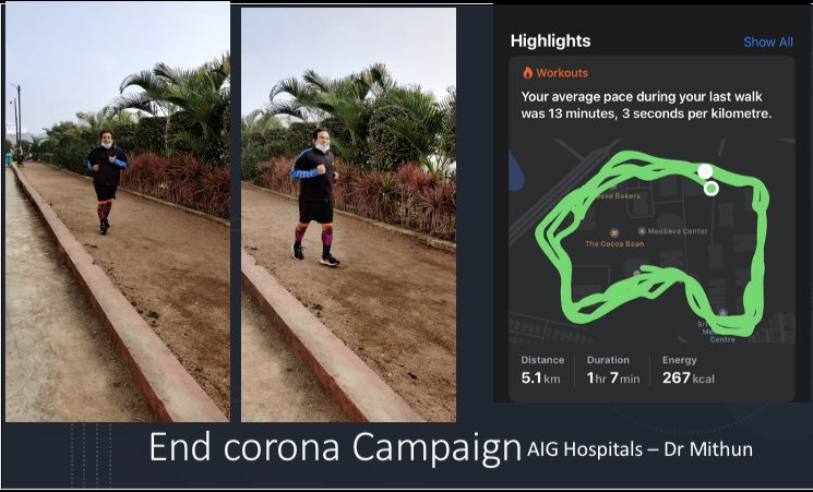@AIGHospitals #endcorona  #livertwitter #PMOIndia @MoHFW_INDIA End Corona Campaign - virtual run - Hyderabad organised by AIG Hospitals