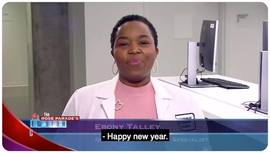 Ebony Talley, director of Infection Prevention at Kaiser Permanente Woodland Hills, says everyone plays a crucial role in preventing infection. #maskup #socialdistancing @RoseParade #RoseParadeReimagined #RoseParade2021