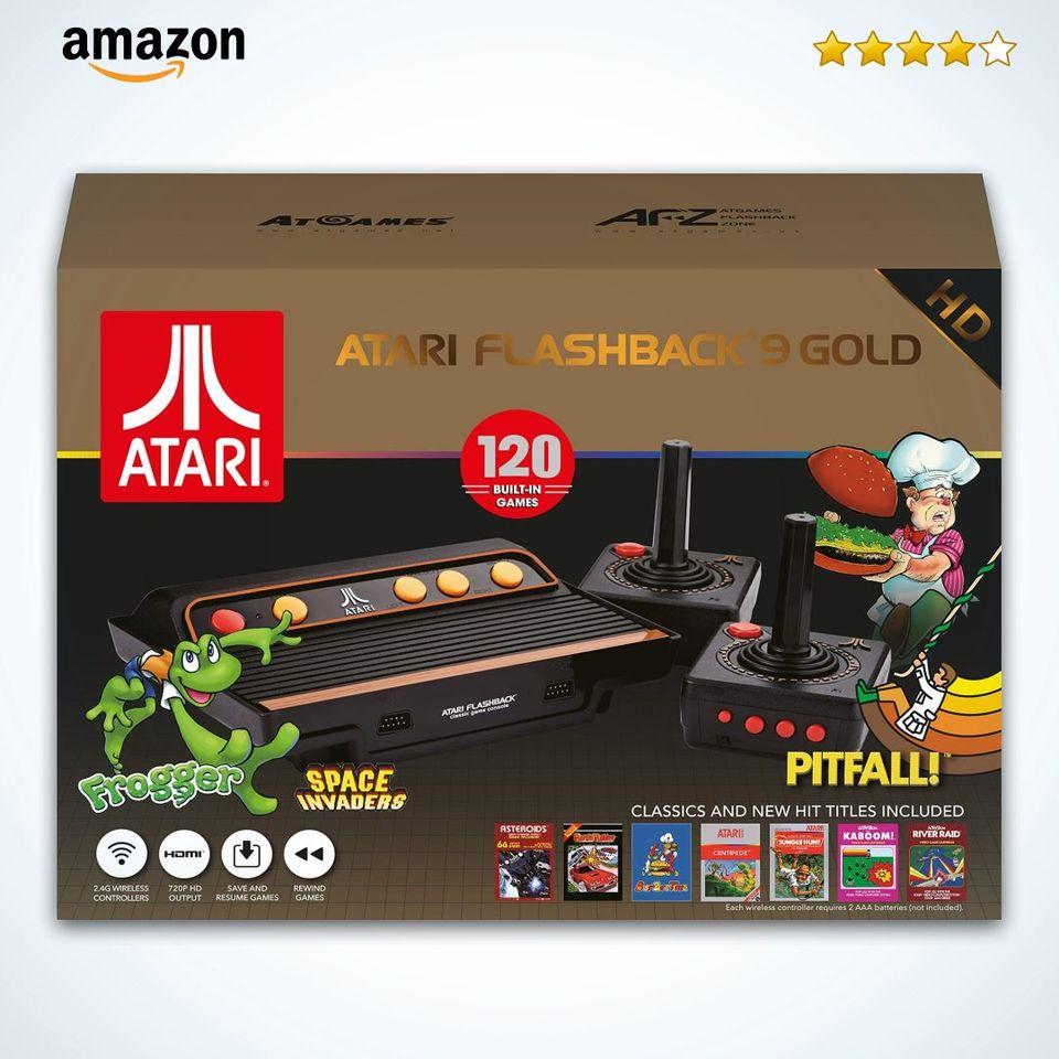 Consola Atari Flashback 9 - Gold Edition Aprovecha el momento ideal para dar regalos extraordinarios. Increíbles descuentos en códigos seleccionados, ¡solo en Amazon!👇