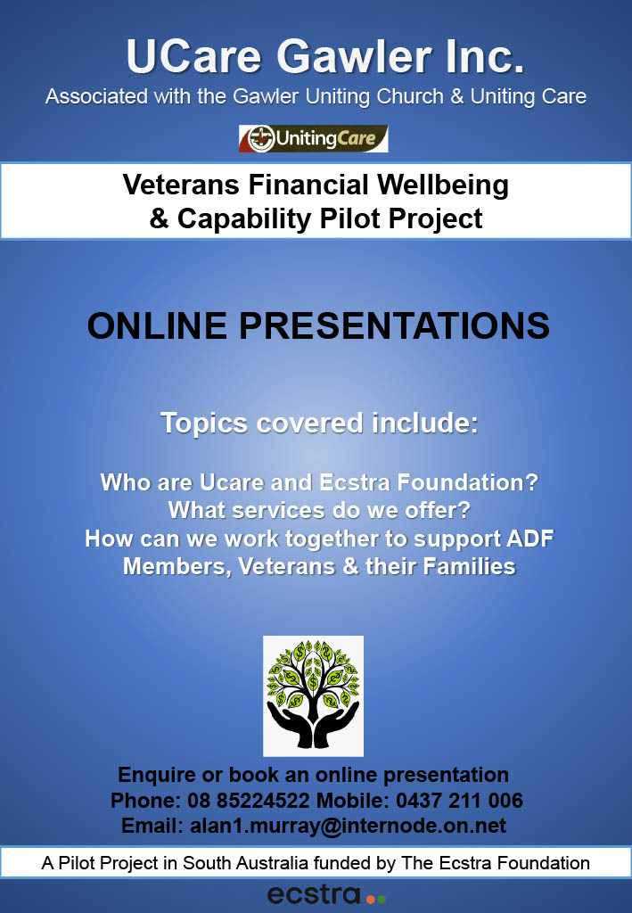 test Twitter Media - Veterans Financial Wellbeing and Capability Project for serving ADF, veterans and families, by UCare Gawler https://t.co/enMRBgNCeR
