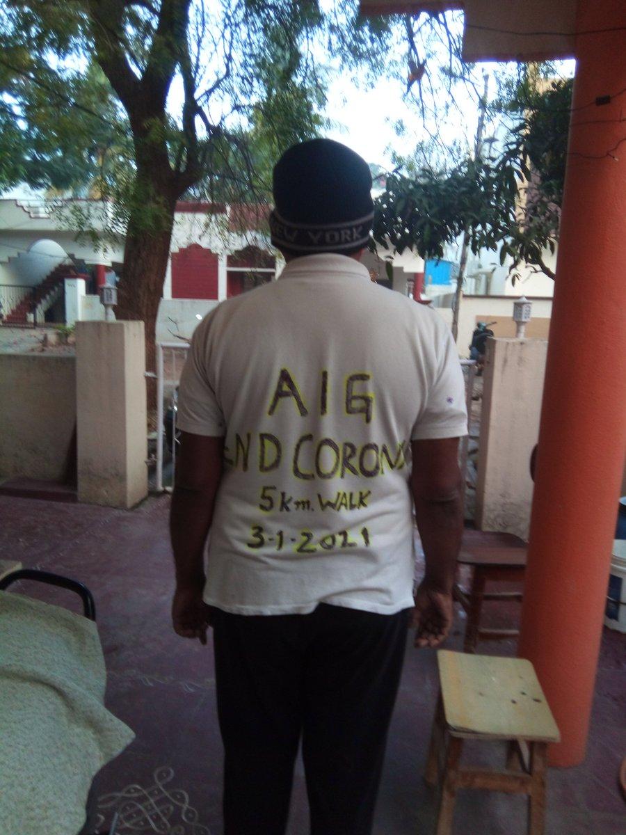 #EndCorona #AIGHospitals  Met a gentleman on my walk too...😋😂