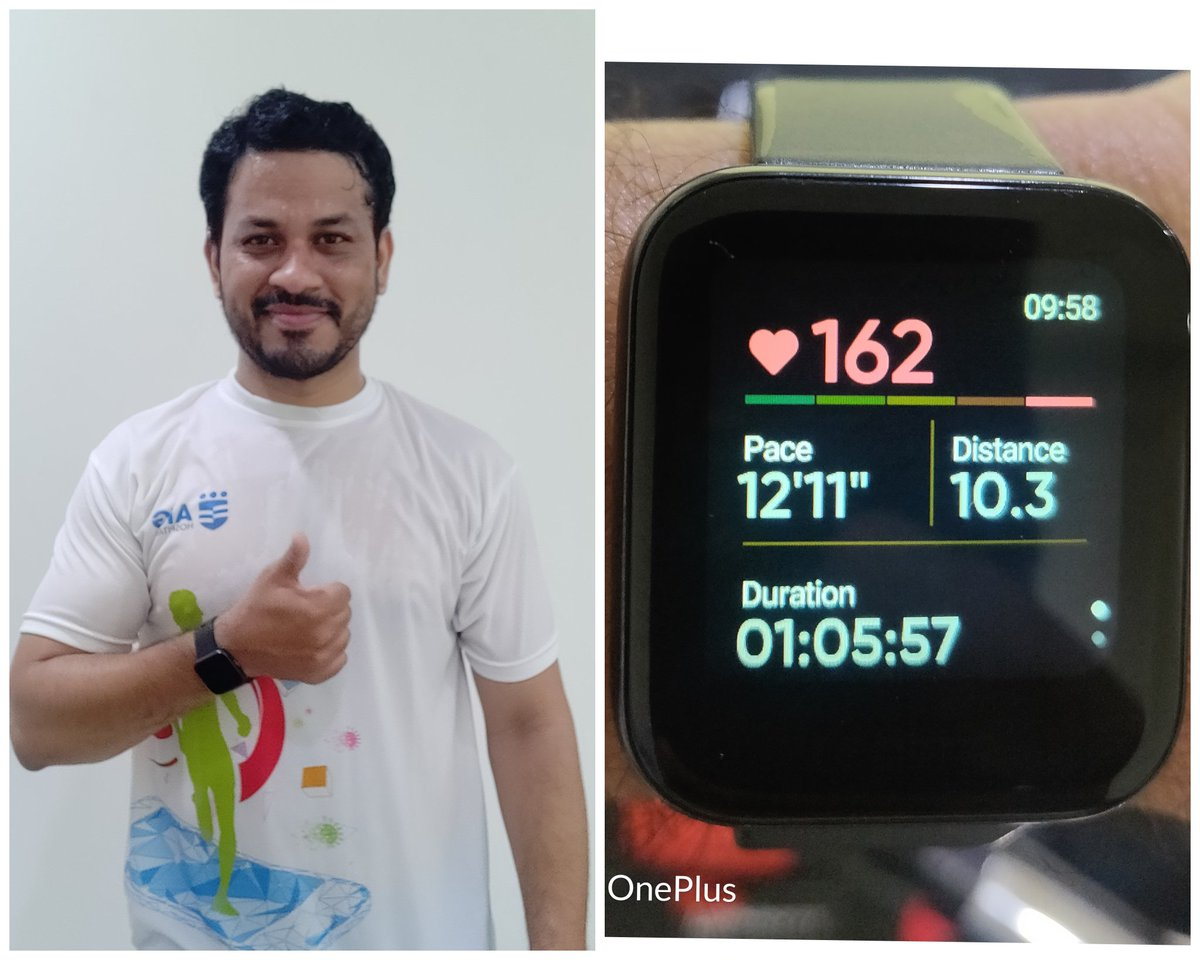 Ran 10 km for noble cause #ENDCorona #AIGHospitals...