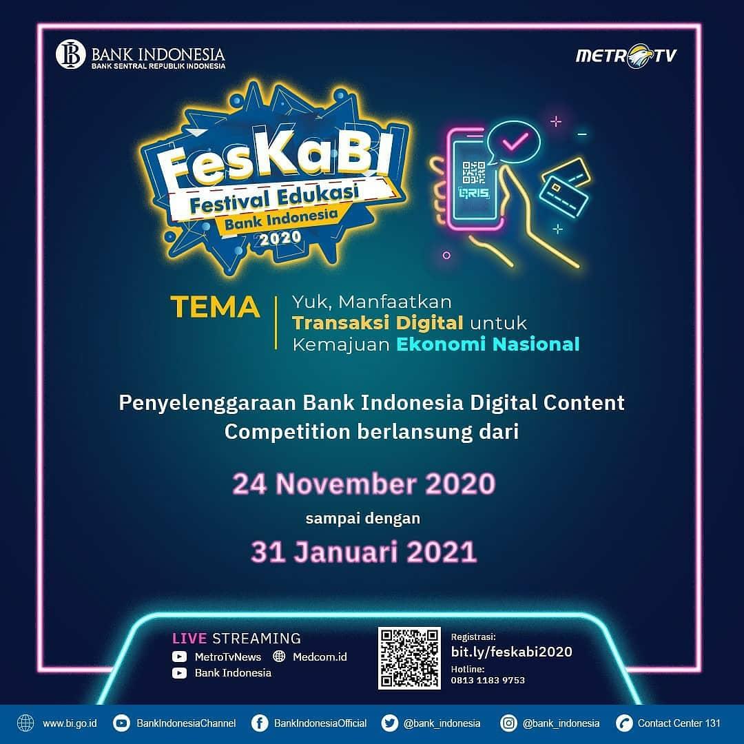 Pada tahun ini Bank Indonesia akan mengadakan digital content competition berupa blog, comic dan video competition dengan total hadiah sampai 170 jutaan. Untuk informasi pendaftaran kunjungi   #MTVNAD