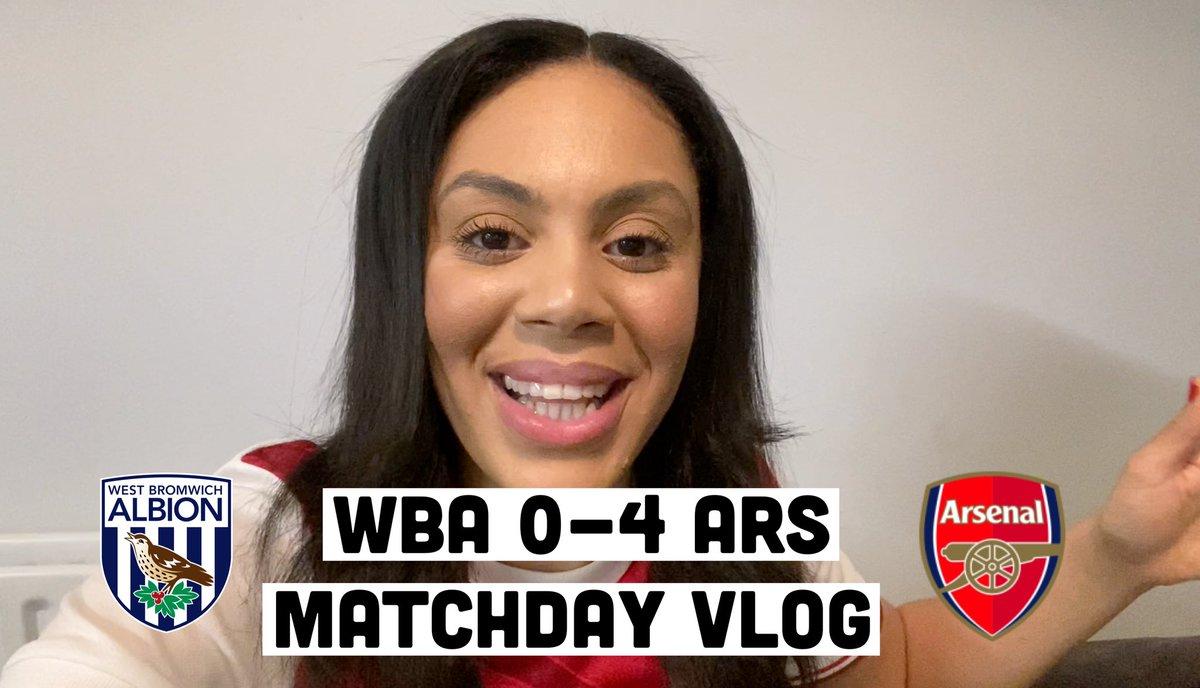 @WBA 0-4 @Arsenal MatchDay Vlog Out Now ⚽️🔴⚪️  Post match interviews with @pippa_monique & @joelbeya2     #Arsenal #COYG #WBAARS #CharleneSmith #Vlog